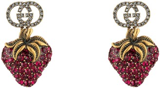 Gucci Earrings with strawberry pendant
