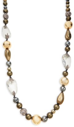 Alexis Bittar 10K Goldplated, Faux Pearl Multi-Stone Necklace