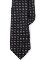 Ralph Lauren Purple Label Diamond-Print Silk Narrow Tie