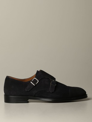 Doucal's Monk Strap In Suede