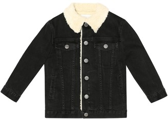 Gucci Kids Faux shearling-lined denim jacket