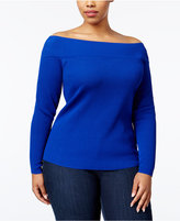 INC International Concepts Plus Size Off-The-Shoulder Sweater, Only at Macy's