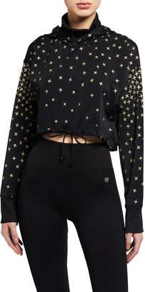 Koral Clover Impression Constellation-Print Cropped Sweatshirt