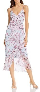 Bardot Floral Printed Faux-Wrap Dress