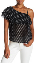 Lily White One Shoulder Polka Dot Shirt