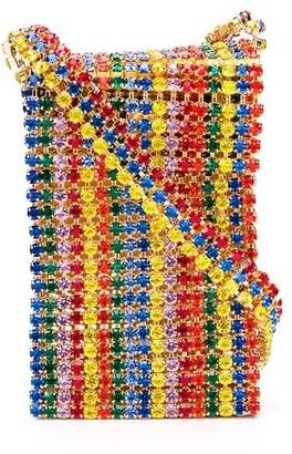 Area Rainbow Crystal Crossbody Bag