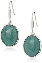 "Kenneth Cole New York Stone Central"" Teal Oval Stone Drop Earring"