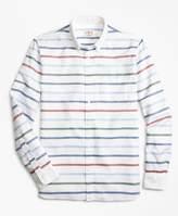 Brooks Brothers Breton-Striped Basketweave Sport Shirt