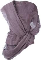Rick Owens asymmetric wrap jumper - women - Cotton/Linen/Flax/Spandex/Elastane - 40
