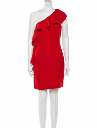Rachel Zoe One-Shoulder Mini Dress w/ Tags Red