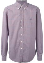 Polo Ralph Lauren checked logo embroidered shirt