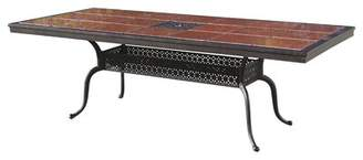Astoria Grand Sledmere Dining Table Astoria Grand Table Color: Antique Bronze, Tile Color: Ruby Red