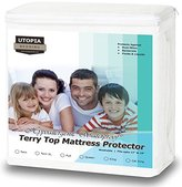 Utopia Bedding Premium Hypoallergenic Waterproof Mattress Protector - Vinyl Free - Fitted Mattress Cover (Twin-XL)