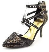 Thalia Sodi Dyana Women Pointed Toe Canvas Black Heels.