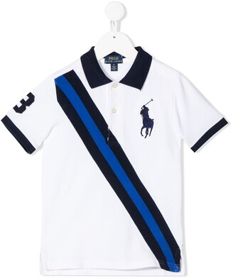 Ralph Lauren Kids striped branded polo shirt