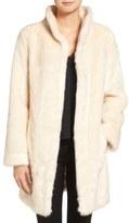 Eliza J Faux Mink Fur Coat
