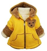 kids Clothes Jacket - SODIAL(R)Baby Girls Boys kids Clothes Jacket Winter Warm Coat Toddlers Hoodies Coat 4-5Years