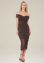Bebe Print Mesh Dress