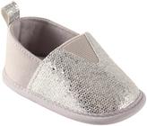 Luvable Friends Silver Sparkle Slip-On Shoe