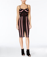 Material Girl Juniors' Striped Bodycon Dress, Only at Macy's