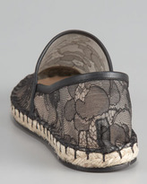 Valentino Flat Lace Espadrille