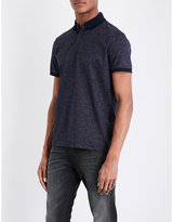 Calvin Klein Micro dot-print cotton polo shirt