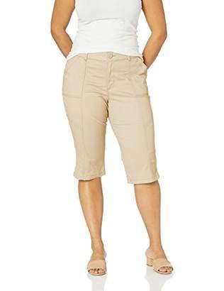 Lee Women's Plus Size Flex Motion Regular Fit Utility Capri Pant