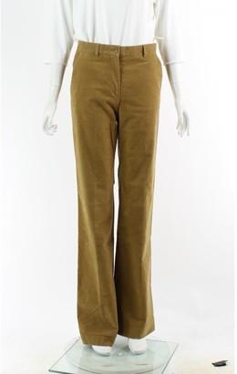 Miu Miu Brown Cotton Trousers