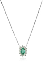 Tagliamonte Incanto Royale Diamond and Emerald Drop 18K Gold Necklace