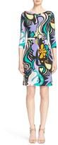 Etro Mixed Print Sheath Dress