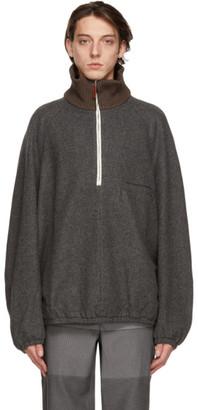 Sunnei Grey Knit Neck Jacket