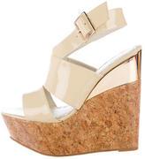 Alice + Olivia Patent Wedge Sandals