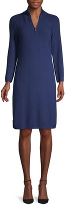 Tommy Bahama Textured Cotton Blend Half-Zip Dress