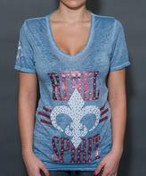 Rebel Spirit Light Blue 'Rebel Spirit' Tee - Women