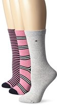 Tommy Hilfiger Women's Three-Pack Dual-Stripe Socks