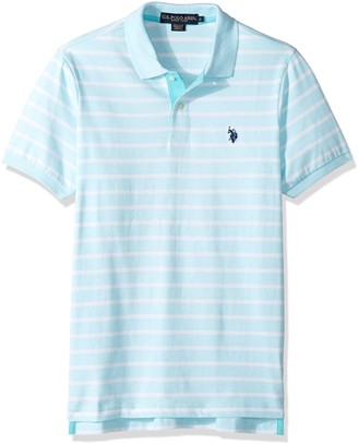 U.S. Polo Assn. Men's Classic Fit Stripe Short Sleeve Jersey Polo Shirt
