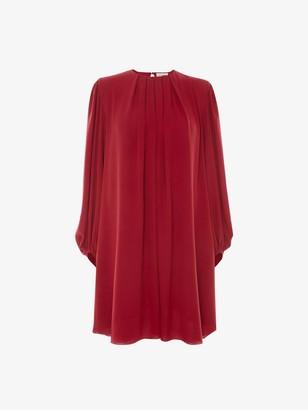 Alexander McQueen Pleated Silk Mini Dress