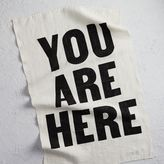 west elm You Are Here Linen Tea Towel