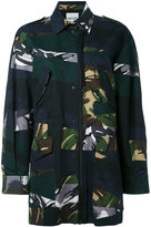Kenzo Broken Camo coat - women - Cotton/Acetate - 38