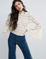 Free People Kiss And Bell Crochet Blouse