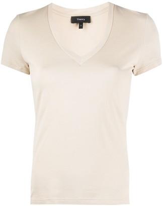 Theory V-neck stretch fit T-shirt