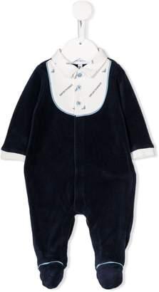 Emporio Armani Kids contrast logo pajamas