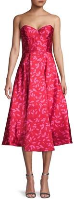 Sachin + Babi Leaf-Print Fit-&-Flare Dress