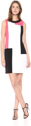 Calvin Klein Women's Sleeveless Color Block Shift Dress