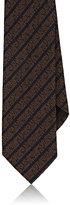 Ermenegildo Zegna Men's Silk Repp Necktie-BROWN