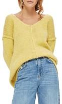 Topshop Women's Oversize V-Neck Sweater