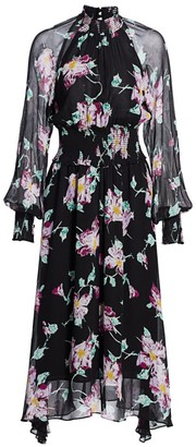 A.L.C. Casey Long-Sleeve Floral Dress