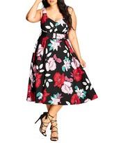 City Chic Pretty Garden Dress