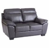 'Brooklyn' Leather-Look Love Seat