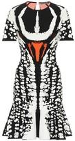 Alexander McQueen Beetle flared knitted minidress